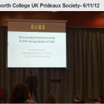 Speaking to the Young Entrepreneurs of  Lord Wandsworth College UK Prideaux Society