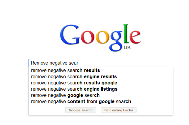 Removing Negative Google Auto complete search results