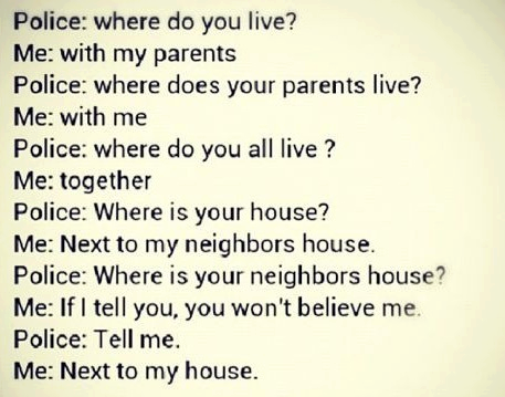 police humour