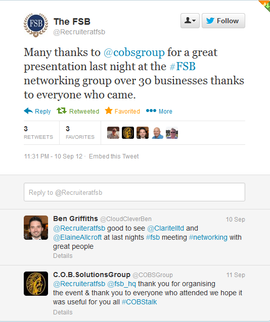 Chief online business solutions group COBS GROUP fsb endorsements
